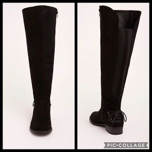 TORRID•12.5W lace up over the knee boots